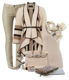 """""""Shades of Chocolate"""" by lisa-holt ❤ liked on Polyvore featuring Hudson, Karen Millen, Roger Vivier, maurices, Tory Burch, Hermès, Kate Spade, STELLA McCARTNEY and Tom Ford"""