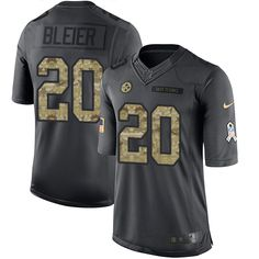 Nike Steelers  20 Rocky Bleier Black Men s Stitched NFL Limited 2016 Salute  to Service Jersey 89a49a516