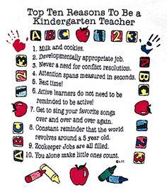Mrs. Meacham Kindergarten Writing | Kindergarten and Mooneyisms: Top Ten Reasons to be a Kindergarten ...