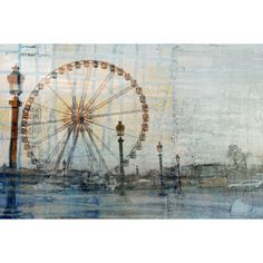 Add a unique piece to your home decor with this ready-to-hang 'Carosello' art print. Created using UV inks to resist cracking or fading, this print features a photograph of a carousel with a colorful overlay.