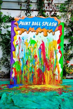 Amazing Artist party - paint ball splash by Event Themes, Party Themes, Party Ideas, Art Birthday, Birthday Ideas, Art Party Decorations, Paint Party, Best Part Of Me, God