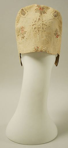 Cap Date: 18th century Culture: French Medium: cotton Dimensions: [no dimensions available] Credit Line: Gift of Mrs. DeWitt Clinton Cohen, 1942 Accession Number: C.I.42.8.1