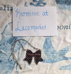 Angelic Pretty polkadotted tokimeki ribbon in BLACK « Lace Market: Lolita Fashion Sales and Auctions