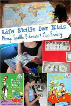 Great resources for teaching kids about money, healthy behaviors and map reading skills!