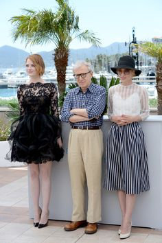 """68th Annual Cannes Film Festival - """"Irrational Man"""" Photocall, May 15 Actress Emma Stone, director Woody Allen and Parker Posey"""