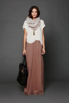 Must haves I fashion wishlist I brown maxi-skirt I spring summer style I FP Beach Womens Mad Cool Skirt @monstylepin