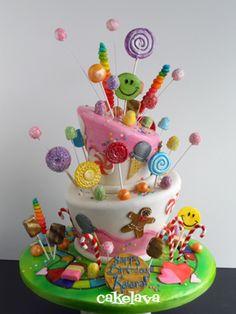 Candy Land Cake ~ love!
