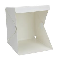 พับLightboxแบบพกพาห้องแสงสำหรับการถ่ายภาพสตูดิโอถ่ายฉากหลังมินิCubeกล่องแสงชุดเต็นท์22.6*23*24เซนติเมตร
