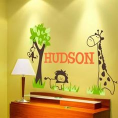 It's a Jungle Out There. Cute Wall Decal