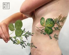 My absolute favorite greenery tattoo~ Love the bright colors and tones, and the organic placement. This is where I'd like to have my tattoo