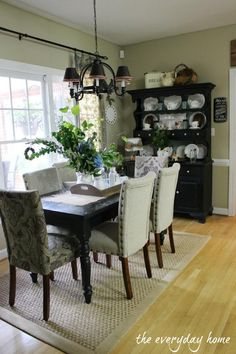 Come to Visit, Stay for Supper! {Summer Home Tour 2013}-from The Everyday Home........nice chairs