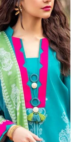 Churidhar Neck Designs, Salwar Neck Designs, Kurta Neck Design, Neck Designs For Suits, Sleeves Designs For Dresses, Neckline Designs, Kurta Designs Women, Dress Neck Designs, Sleeve Designs