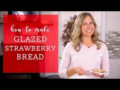 Have fresh garden strawberries? Try this fresh strawberry bread with melt-in-your-mouth strawberry glaze. This quick bread recipe comes together in just 10 minutes. Strawberry Bread Recipes, Strawberry Glaze, Strawberry Muffins, Cherry Bread, Fruit Bread, Bread Recipe Video, Quick Bread Recipes, Caramel Apple Bombs, Pumpkin Spiced Latte Recipe