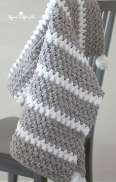 Quick and Easy Bernat Moss Stitch Baby Blanket - Repeat Crafter Me # chunky crochet baby blanket Quick and Easy Bernat Moss Stitch Baby Blanket - Repeat Crafter Me Crochet Afghans, Crochet Baby Blanket Free Pattern, Crochet Baby Blanket Beginner, Easy Knit Baby Blanket, Bernat Baby Blanket, Knitting Baby Blankets, Bernat Blanket Patterns, Crochet Patterns Baby, Easy Crochet Baby Blankets