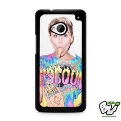 Miley Cyrus Eat Ice Cream HTC G21,HTC ONE X,HTC ONE S,HTC M7,M8,M8 Mini,M9,M9 Plus,HTC Desire Case
