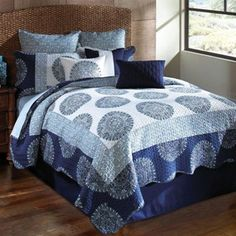 Hallmart Dundee Comforter Set -- $249.99 // The Hallmart Dundee Comforter Set features a gorgeous combination of relaxing blue hues -- ideal for turning your room into a calming haven.