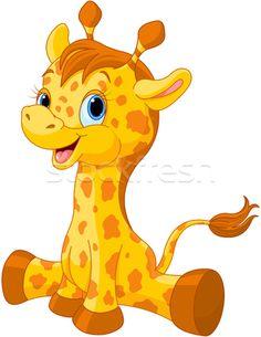 Cute giraffe calf  - ilustração de vetor por Anna Velichkovsky (Dazdraperma) - Stockfresh #4847702