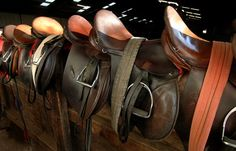 It's the smell of worn leather and horse sweat, that makes me feel perfectly at ease.