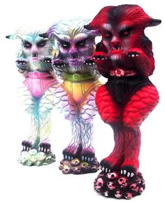 """Howl at the moon with """"Peter Garou"""" resin art multiples from Naomi Knaff!!!"""