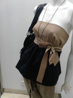 Top bicolor,nero /cammello ....bellissimo !!!!!