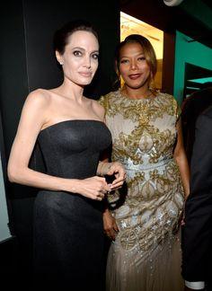 Pin for Later: All' eure Lieblingsstars drängelten sich bei den Hollywood Film Awards Angelina Jolie and Queen Latifah