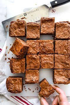 Classic dark chocolate brownies from Chelsea Market's famed Fat Witch Bakery are rich and thick the favorite recipe for every true chocolate lover.