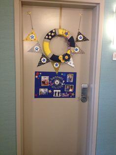 Anchor door hangernavy anchor door by furnitureflipalabama for Hotel door decor