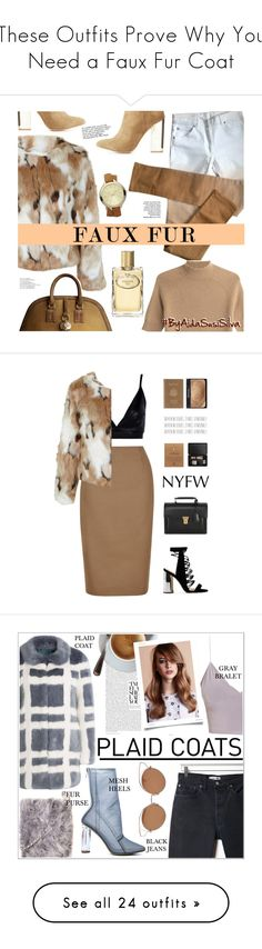 """These Outfits Prove Why You Need a Faux Fur Coat"" by polyvore-editorial ❤ liked on Polyvore featuring fauxfur, Miss Selfridge, Maison Margiela, Theory, Michael Kors, Prada, Burberry, Charlotte Russe, Hobbs and Boohoo"