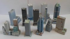 Skyscraper Paper Models In 1/1500 Scale - by Ginseng - via Skycraper City - == -  A lot of nice Skycraper paper models in 1/1500 scale, created by designer Ginseng and originally posted at Skycraper City forum.