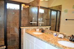Master bath has huge walk in shower with a nice bench.  For more details, visit our Facebook page at https://www.facebook.com/barefootescapebeachrental/