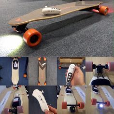 Electric Skateboard, Electric Scooter, Electric Cars, E Skate, Make Build, Scooter Bike, Luge, Longboarding, Skateboard Decks