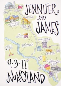 Adorable idea for a destination wedding or save the date - nice if you want to highlight all the cool places that mean something to your relationship