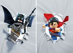 Batman and Superman Lego dc Lego Batman 3, Batman Logo, Lego Lego, New 52, Character Drawing, Comic Character, Dc Universe, Gotham, Harley Quinn