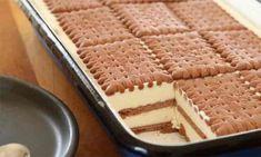 Chutný a rychlý dezert na příjemné víkendové chvíle potřebujeme: plech s rozměrem 20 x 30 cm 40 sušenek 500 g tvarohu 375 ml zakysané smetany 80 g pudinkového prášku za studena (Créme Olé) 80 ml mléka 200 g moučkového cukru 180 ml mléka na namáčení Na polevu: 150 g čokolády 150 ml smetany 100 g […] Icebox Desserts, Cheesecake Desserts, No Bake Desserts, Delicious Desserts, Yummy Food, Baking Recipes, Cake Recipes, Dessert Recipes, Gluten Free Chocolate