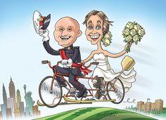 Wedding. Standard caricature, digital artwork. 2014
