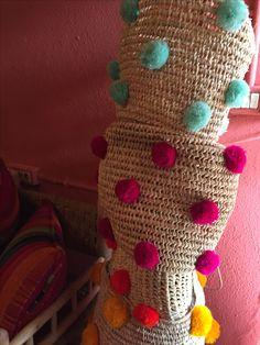Cestas artesanales #pompones #color #alegria