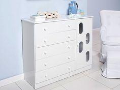 Organize as coisinhas do seu bebê com uma LINDA cômoda dessas!