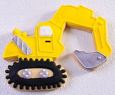 Excavator Cookies - Little Boys will Love These!