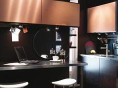 Meubles de cuisine cuivre. Copper kitchen furniture.