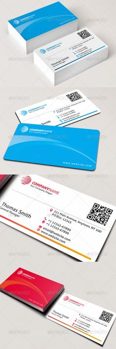 "Corporate Business Card #GraphicRiver Features: › Double-sided › Horizontal Business Card › Rounded Corners (0.125"") + Square Corners › CMYK Color Mode › 300 DPI High Resolution › Easy to customize color & edit text › 3.5"" x 2"" (3.75"" x 2.25"" with bleeds + trim) › Print ready › QR code › 2 different colors All layers can be changed, you can replace all the information on the business card in easy way with just a few clicks. Font: ALLER Please don't forget to rate this item. Created…"