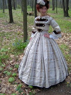 1800s Victorian 1860s Civil War Dress Day Gown. Would have been great for Dickens on the Strand @Catherine PauleyPauley