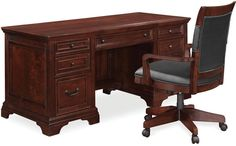 Cambridge Home Office Furniture, 2 Piece Set (Executive Desk and Desk Chair)
