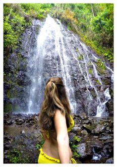 Hamama Falls. Oahu,