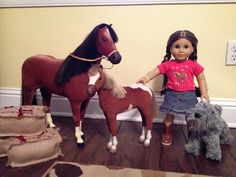 CraftyErin: Christmas American Girl crafting - horse accessories including a saddle