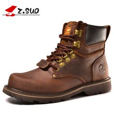 Z. Suo men boots. Fashion first layer of leather men's boots, high-quality tooling boots man, botas hombre zs16508 #>=#>=#>=#>=#> Click on the pin to check out discount price, color, size, shipping, etc. Save and like it!
