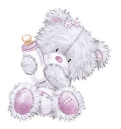 Cute Cartoon Pictures, Cute Images, Cute Pictures, Pencil Drawings Of Girls, Cute Drawings, Tatty Teddy, Scrapbook Bebe, Deco Baby Shower, Baby Animals