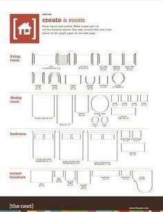 Printable furniture templates 1 4 inch scale free graph - Design a room online free ...