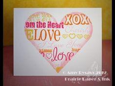 Valentine Card #12 by AmyR of Prairie Paper & Ink