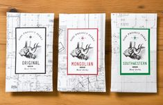 Side Project Jerky|  Packaging for a small batch jerky producer located in Philadelphia, PA. Interview with the designer and photos after the jump.
