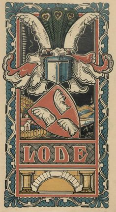 von Lode (German) -- Baltischer Wappen-Calendar 1902 (Baltic States Coats of Arms Calendar) published in Riga by E Bruhns with illustrations by M. Kortmann.
